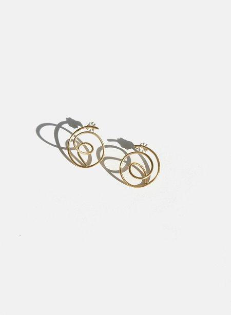 Meg Knuckle Kiss Tangle Earrings - Brass
