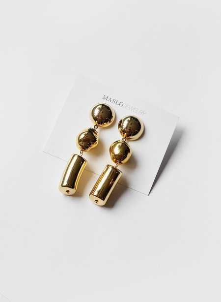 Maslo Jewelry Cascade Earrings - Gold Plated