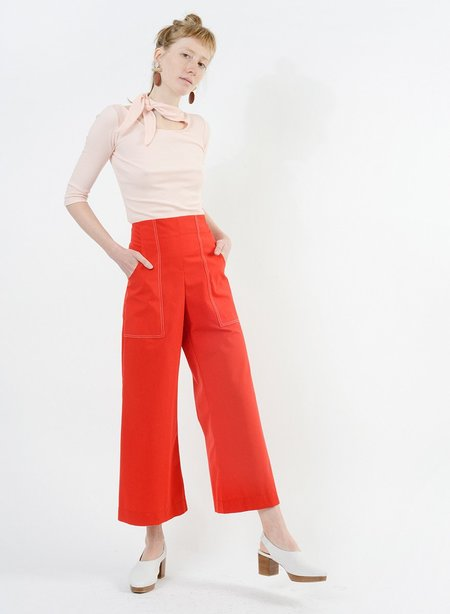 Meg Stitched Harold Pant - Red