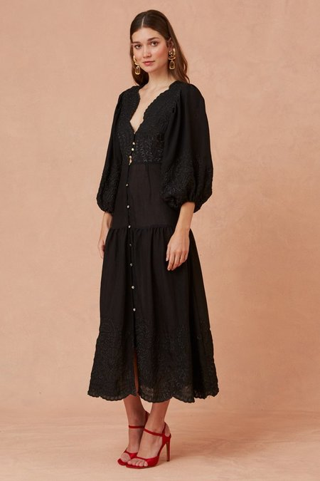 Keepsake Without Me Midi Dress - Black