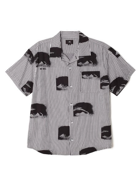 Obey Sees All Woven SS Shirt - Black