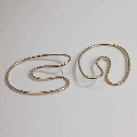 Annika Inez Sloping Curve Earrings Large - 14k gold fill
