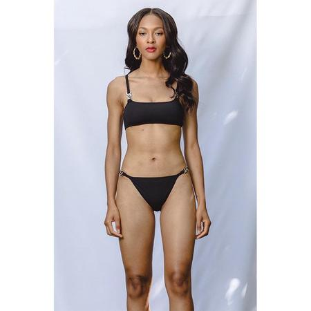 Beth Richards Link Bikini Bottom - Black