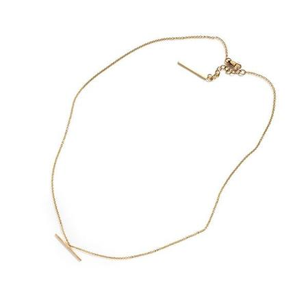 By Boe Suspended Bar Necklace - 14k gold filed