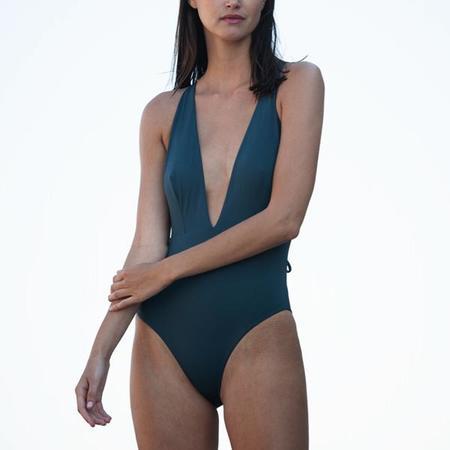 Skin Marina Tie Back 1 Piece - Slate