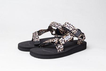 WACKO MARIA x SUICOKE Beach Sandals - Beige Leopard