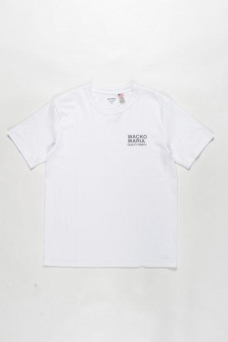 WACKO MARIA USA Body Crew Neck S/S Tee - White