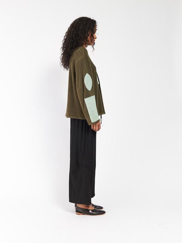 CF Goldman Patch Pullover Green