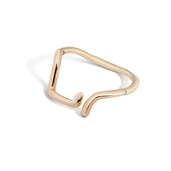 Shahla Karimi 14K Gold Subway Fine Ring - Harlem to South Ferry