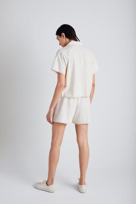 Still Here New York Natural Selvedge Scrunch Shorts