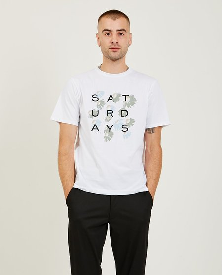 Saturdays NYC Daisy Grid Tee - White