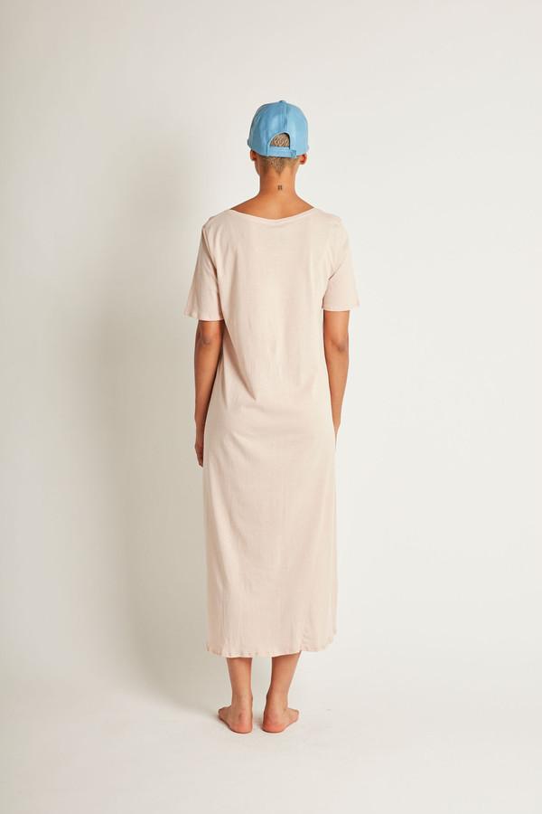 Kowtow Building Block Tee Shirt Dress in Blush