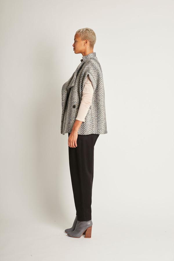 H. Fredriksson Iris Vest in Grey Pastel Wooltweed