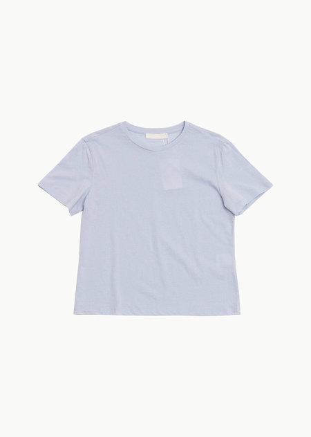 AMOMENTO Basic T-Shirt - Light Blue