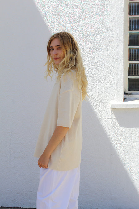 AMOMENTO Collar Knit - Ivory