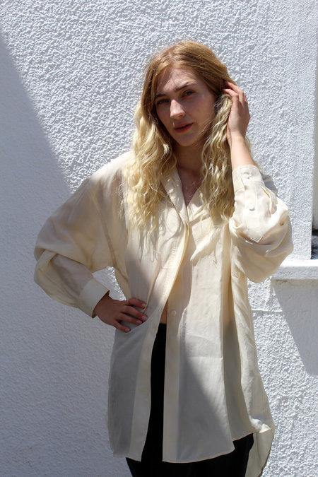 AMOMENTO Silky Shirt - Cream