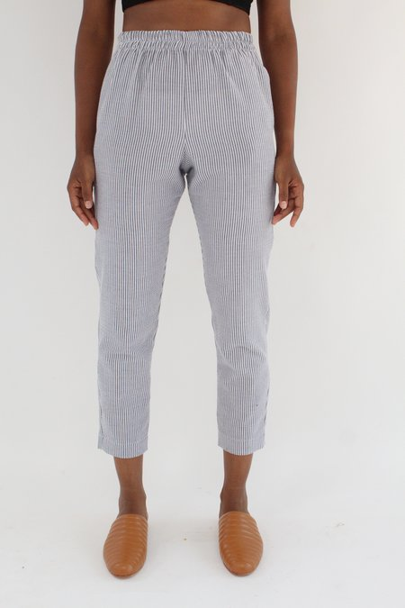 Beklina Basic Seersucker Pant - Charcoal