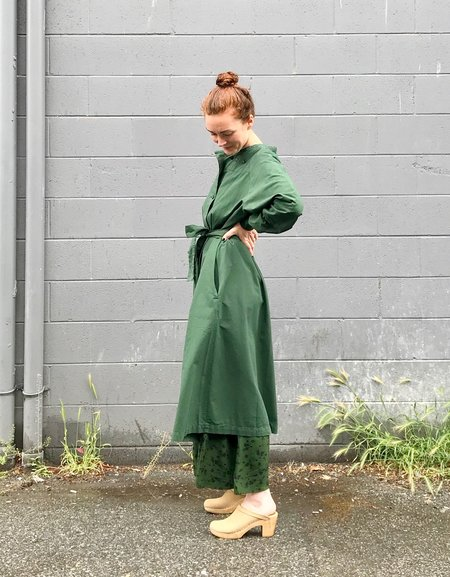 Girls of Dust Military Robe in Cotton Drill - Forest Green