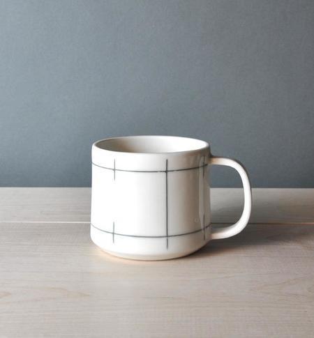 Poketo Porcelain Lines Mug - White
