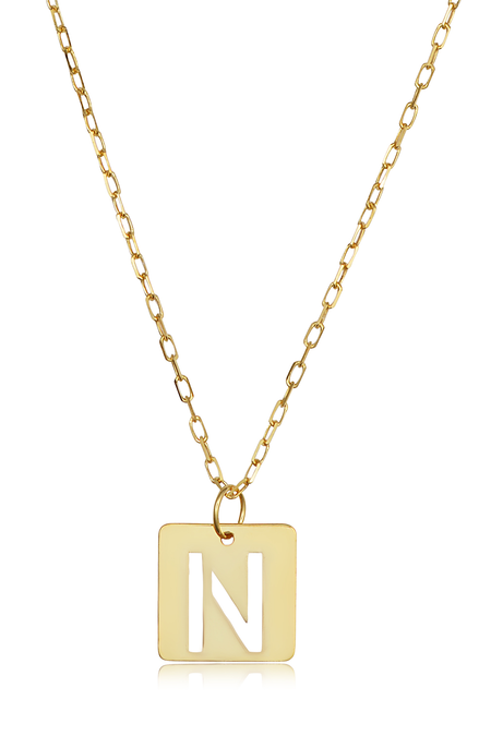 Primary New York Paris Initial Necklace - 14K Gold