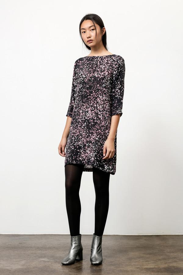 Osei-Duro Linter Dress in Midnight Blush
