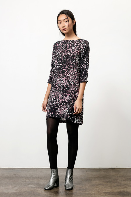 Osei-Duro Linter Dress in Midnight Blush