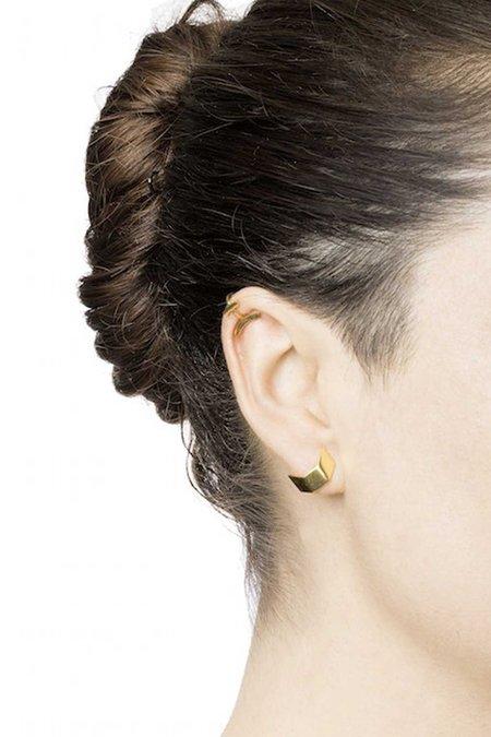 Maria Black Hue Ear Cuff - gold