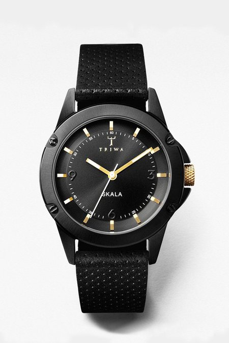Triwa Midnight Skala Watch - Black/Gold