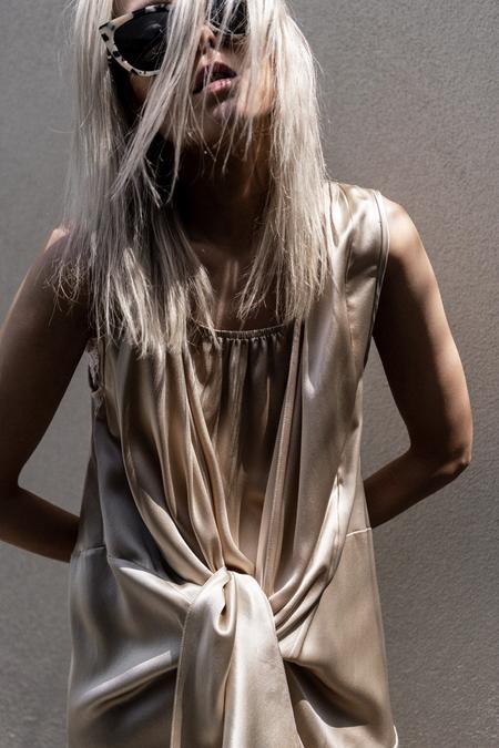 Primary New York Silk Tie Dress