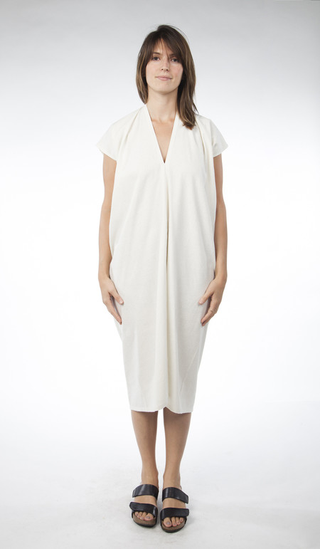 Miranda Bennett Everyday Dress, Oversized, Silk Noil in Natural