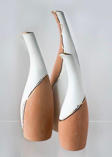 Ayadee Tall Aya vase - Natural/White