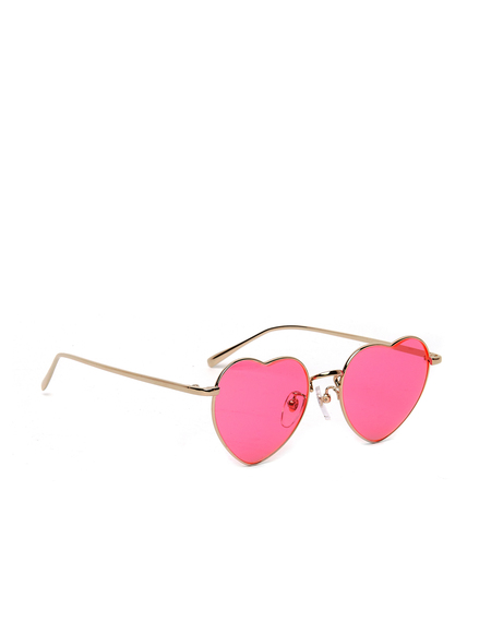 Undercover Heartshaped Sunglasses - Pink