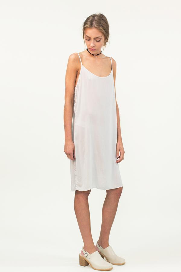 LACAUSA Easy Slip Dress- Stone