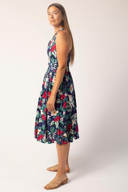 Vintage Dress - Tropical Print