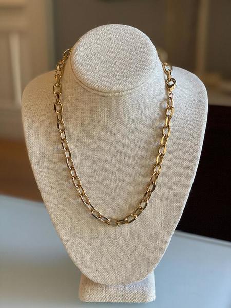 Jennifer Tuton Open Link Necklace - 24K Gold