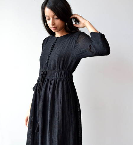 Apiece Apart Black Ghost Ranch Long Dress