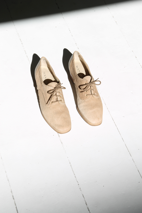 DUO NYC Vintage Pony Hair Oxfords