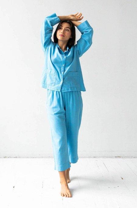 Salua Atelier Lingerie Woven Patch Pocket Pajamas