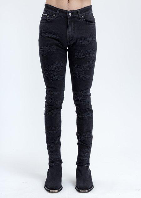 Represent Shredded Denim Jeans - Black