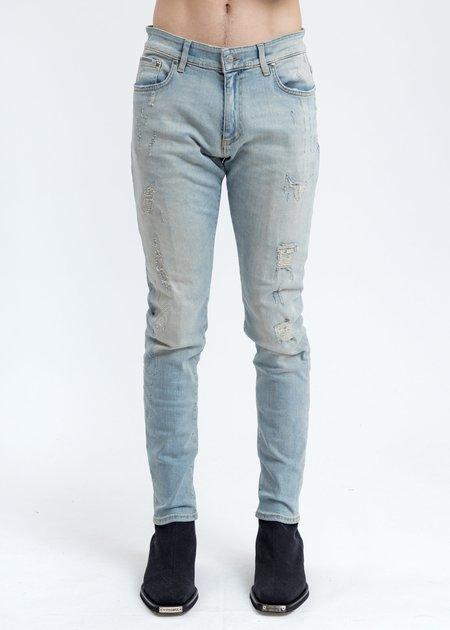 Represent Repaired Denim Jeans - Light Blue