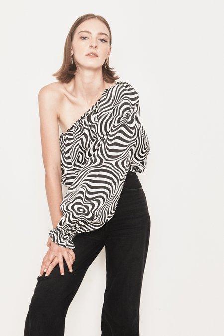 Arc & Bow PRE-ORDER Charisma Blouse - Black/White