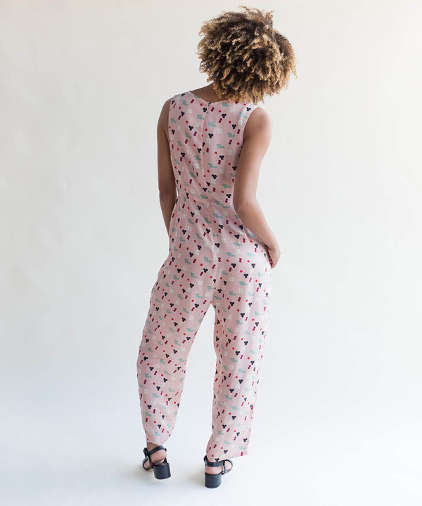Dusen Dusen Pink Five Dot Sarah Jumpsuit