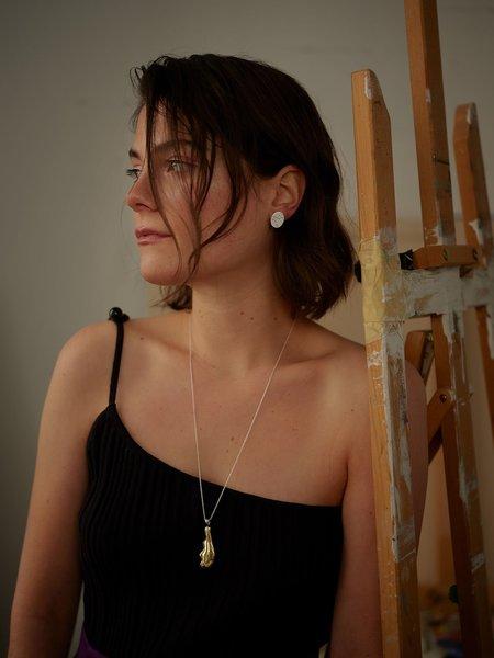 Nina Janvier Arp I Long necklace - Brass/Silve