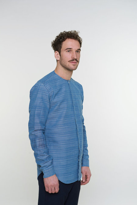 Delikatessen Harmony Shirt - Blue Horizontal Stripe
