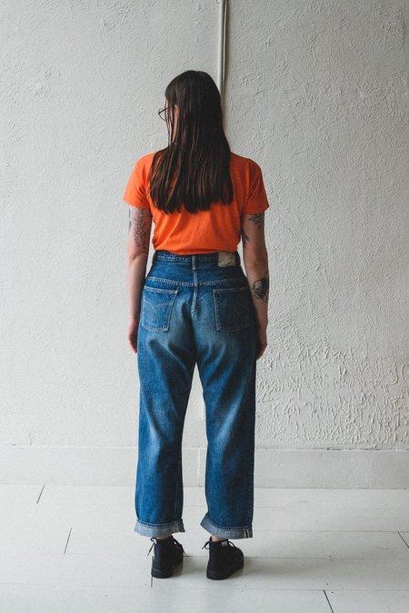 Orslow High Waist Denim Pants - Two Year Wash