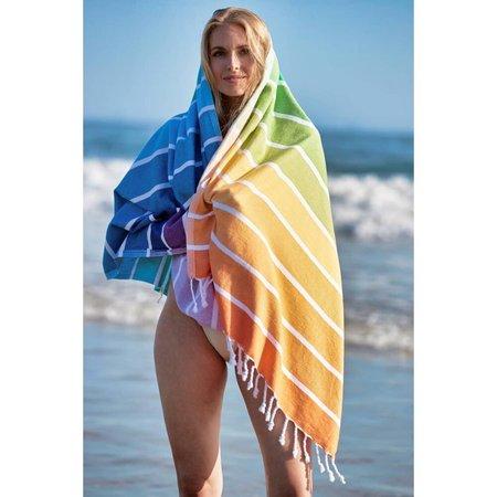 Salte Home Stores on Martha's Vineyard Rainbow Beach Blanket