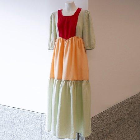 BATSHEVA Empire Linen Dress