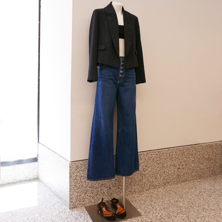 Rachel Comey Littoral Cropped Blazer - Pebble Black