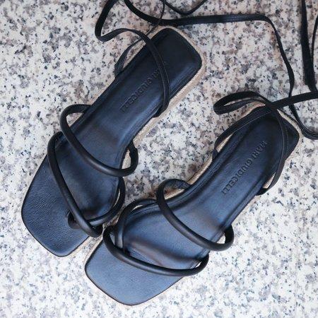 Mari Giudicelli Mica Platform Sandal - Black