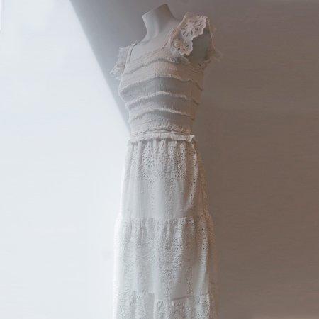 SEA NY Daisy Smocked Dress - Off White